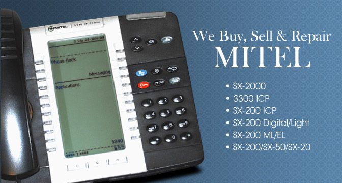Pre owned Mitel Phones